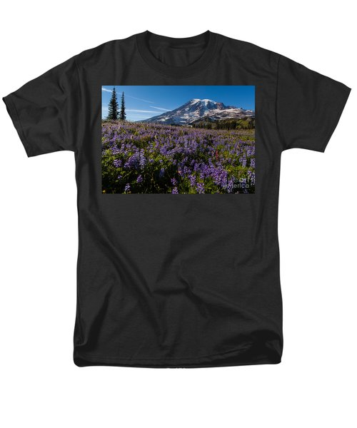 Purple Fields Forever And Ever Men's T-Shirt  (Regular Fit) by Mike Reid