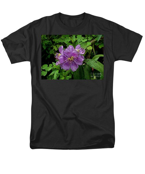 Purple Flower Men's T-Shirt  (Regular Fit) by Sergey Lukashin