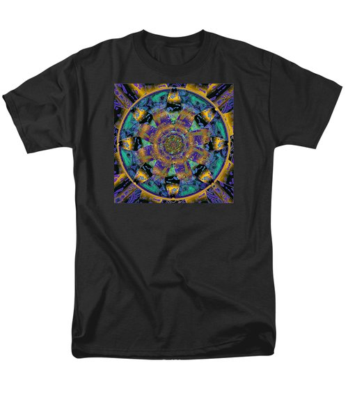 Purple Gold Dream Catcher Mandala Men's T-Shirt  (Regular Fit) by Michele Avanti