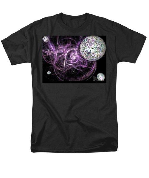 Men's T-Shirt  (Regular Fit) featuring the digital art Purple Haze by Jacqueline Lloyd