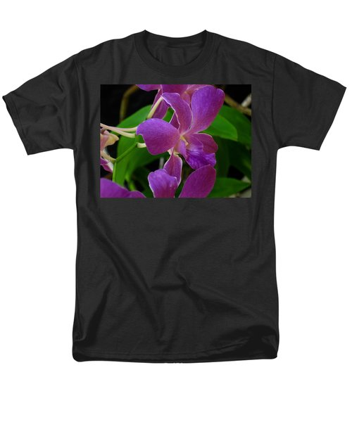 Men's T-Shirt  (Regular Fit) featuring the photograph Purple Over Green by Greg Allore