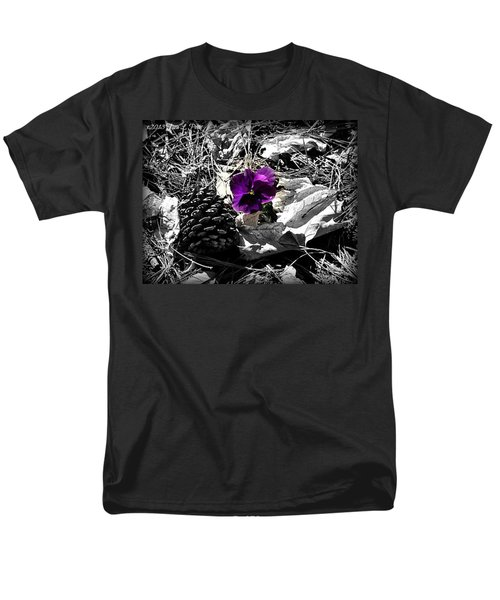 Men's T-Shirt  (Regular Fit) featuring the photograph Purple Pansy by Tara Potts