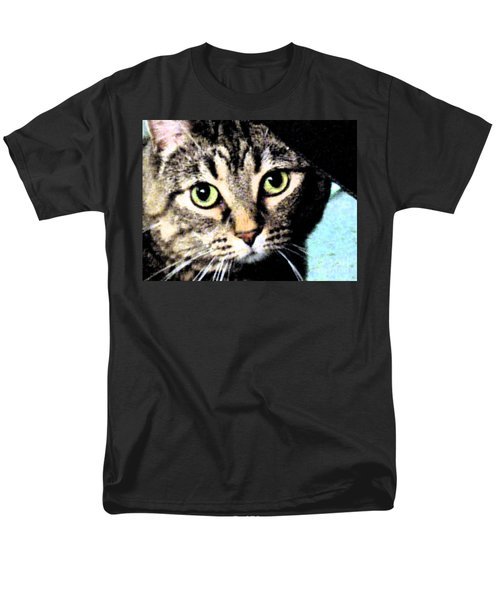 Men's T-Shirt  (Regular Fit) featuring the photograph Purrfectly Bright Eyed by Nina Silver