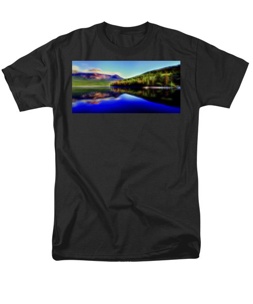 Men's T-Shirt  (Regular Fit) featuring the digital art Pyramid Mirror 1 by William Horden