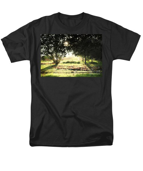 Men's T-Shirt  (Regular Fit) featuring the photograph Quarry Lakes Sunrise by Ellen Cotton