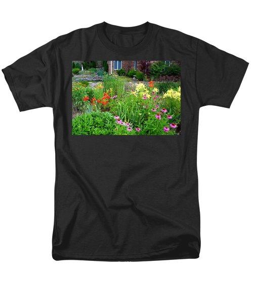 Men's T-Shirt  (Regular Fit) featuring the photograph Quarter Circle Garden by Kathryn Meyer