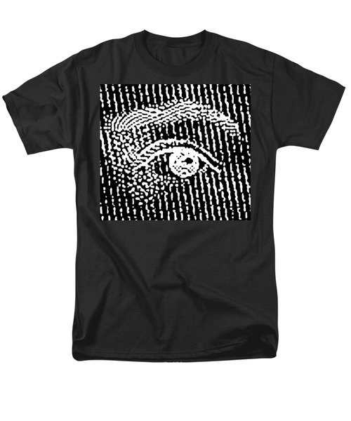 Men's T-Shirt  (Regular Fit) featuring the digital art Queen Elizabeth's Eyes by Vagabond Folk Art - Virginia Vivier