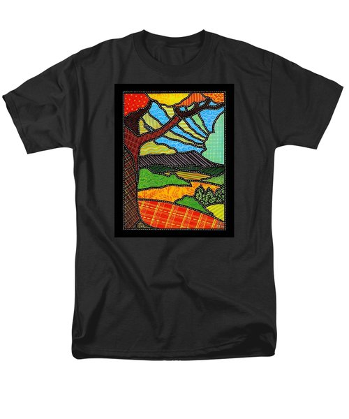 Quilted Bright Harvest Men's T-Shirt  (Regular Fit) by Jim Harris