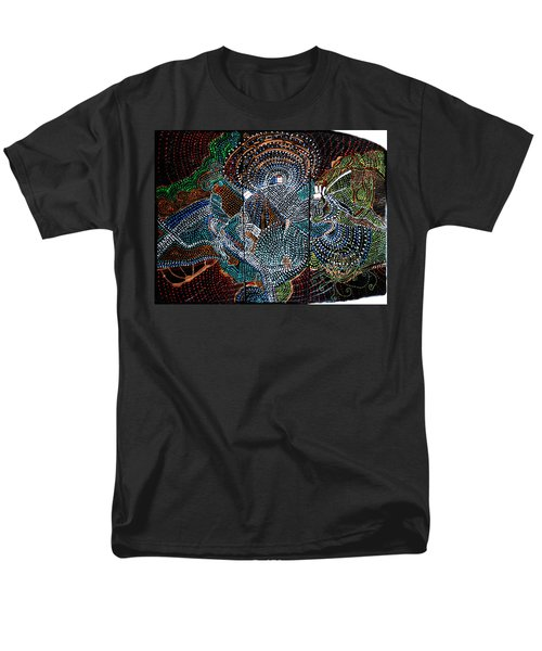 Men's T-Shirt  (Regular Fit) featuring the painting Radiohead by Gloria Ssali