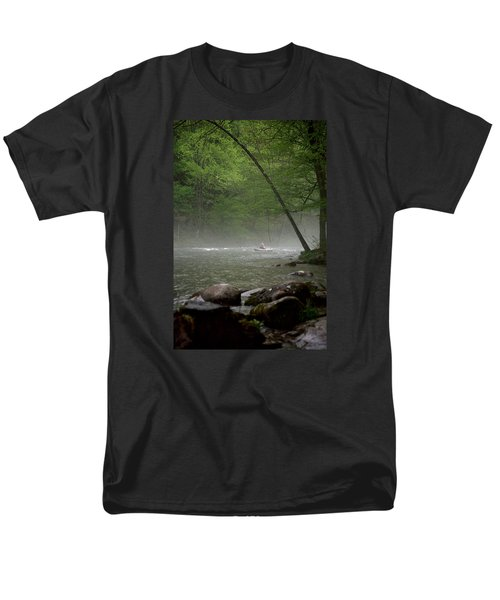 Rafting Misty River Men's T-Shirt  (Regular Fit) by Lawrence Boothby