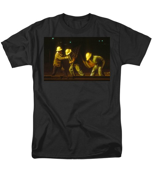 Men's T-Shirt  (Regular Fit) featuring the photograph Railroad Workers by Mark Greenberg