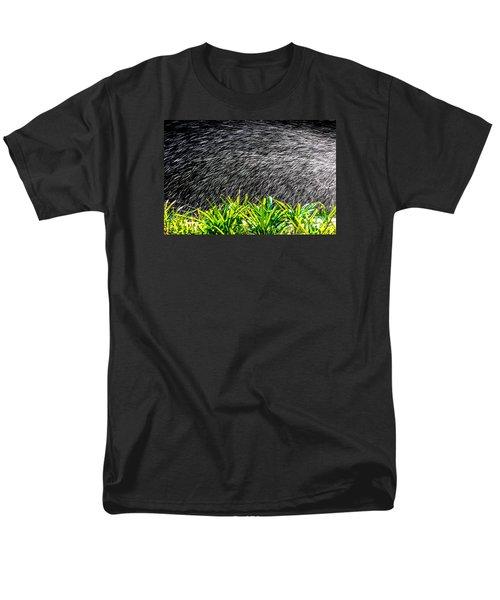 Rain In The Garden Men's T-Shirt  (Regular Fit) by Edgar Laureano