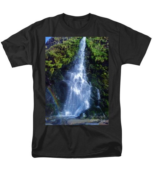 Men's T-Shirt  (Regular Fit) featuring the photograph Rainbow Falls by John Williams