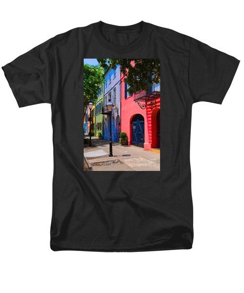 Rainbow Row Charleston Men's T-Shirt  (Regular Fit) by Skip Willits