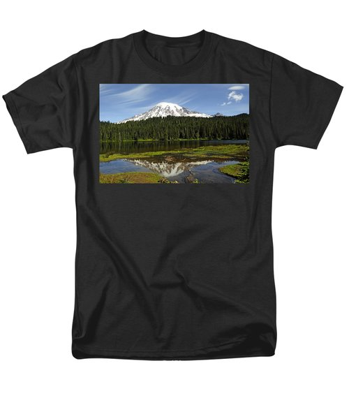 Men's T-Shirt  (Regular Fit) featuring the photograph Rainier's Reflection by Tikvah's Hope