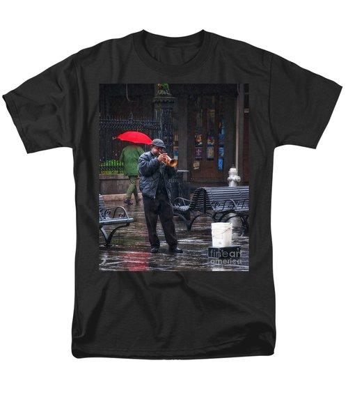 Rainy Day Blues New Orleans Men's T-Shirt  (Regular Fit) by Kathleen K Parker
