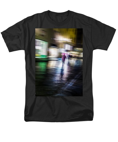 Men's T-Shirt  (Regular Fit) featuring the photograph Rainy Streets by Alex Lapidus
