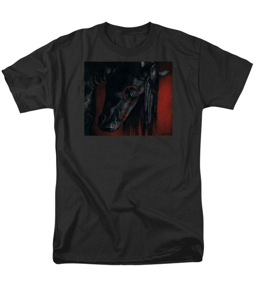 Men's T-Shirt  (Regular Fit) featuring the painting Raven Wing by Pat Erickson