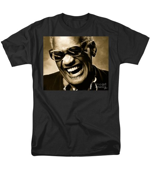 Ray Charles - Portrait Men's T-Shirt  (Regular Fit) by Paul Tagliamonte