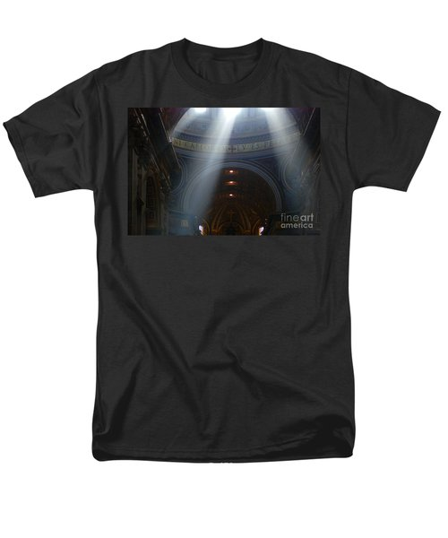 Rays Of Hope St. Peter's Basillica Italy  Men's T-Shirt  (Regular Fit) by Bob Christopher