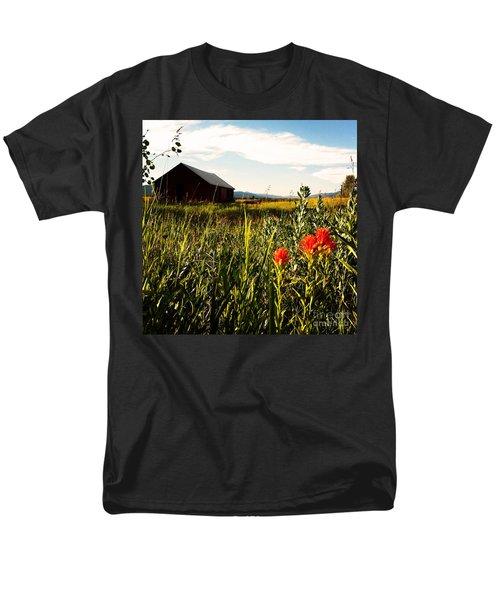 Men's T-Shirt  (Regular Fit) featuring the photograph Red Barn by Meghan at FireBonnet Art