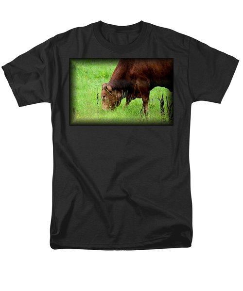 Red Brangus Bull Men's T-Shirt  (Regular Fit) by Maria Urso