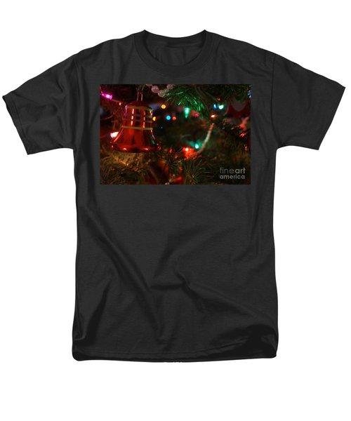 Red Christmas Bell Men's T-Shirt  (Regular Fit) by Kerri Mortenson