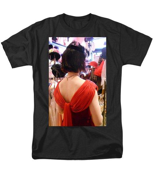 Red Men's T-Shirt  (Regular Fit) by David Trotter