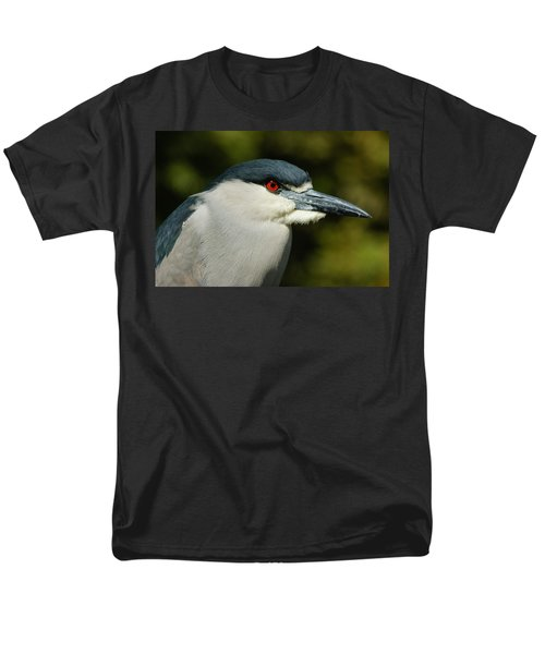 Men's T-Shirt  (Regular Fit) featuring the photograph Red Eye - Black-crowned Night Heron Portrait by Georgia Mizuleva