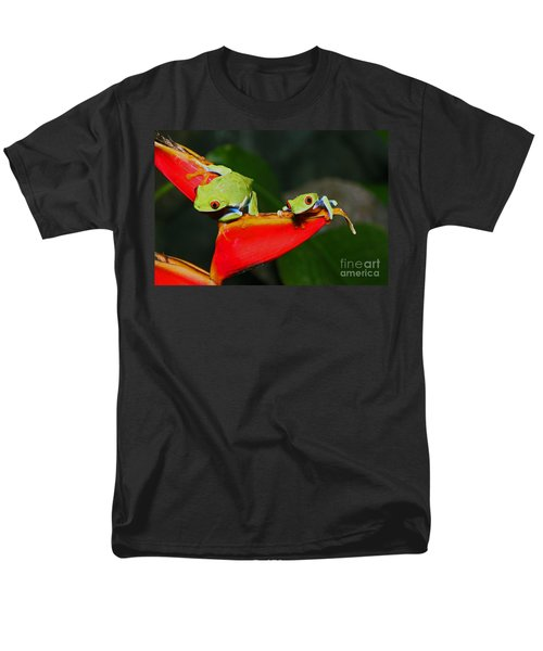 Red Eyed Tree Frogs Men's T-Shirt  (Regular Fit) by Bob Hislop