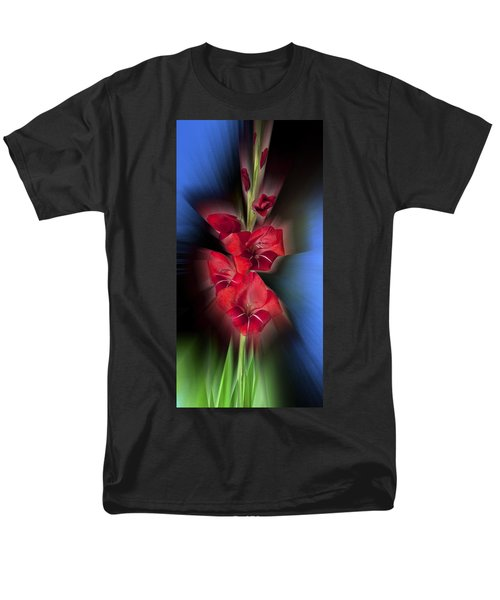 Men's T-Shirt  (Regular Fit) featuring the photograph Red Gladiola by Mark Greenberg