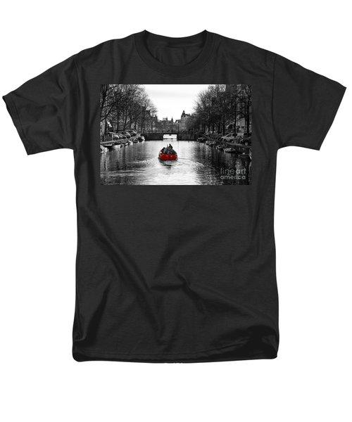 Red Men's T-Shirt  (Regular Fit) by Gunnar Orn Arnason