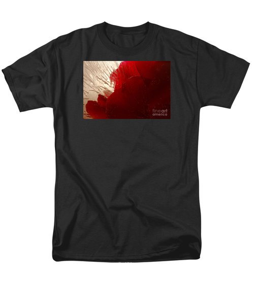 Men's T-Shirt  (Regular Fit) featuring the photograph Red Ice by Randi Grace Nilsberg