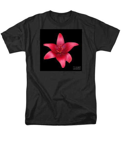 Men's T-Shirt  (Regular Fit) featuring the photograph Red Lily by Judy Whitton
