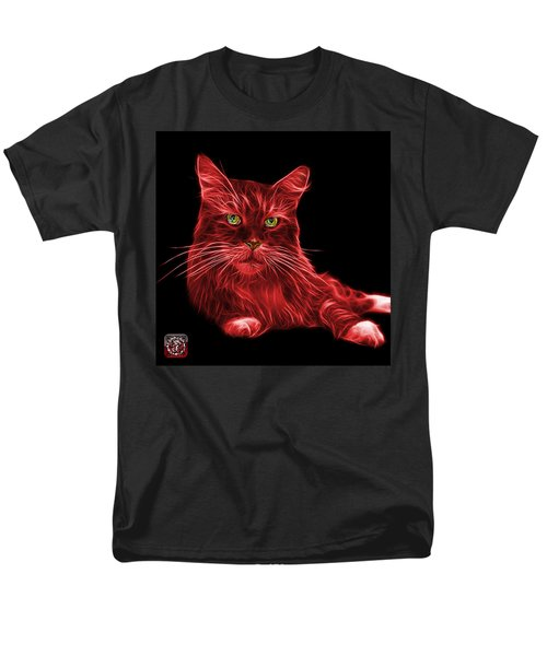 Red Maine Coon Cat - 3926 - Bb Men's T-Shirt  (Regular Fit) by James Ahn