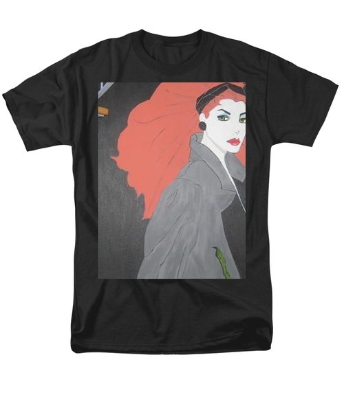 Men's T-Shirt  (Regular Fit) featuring the painting RED by Nora Shepley