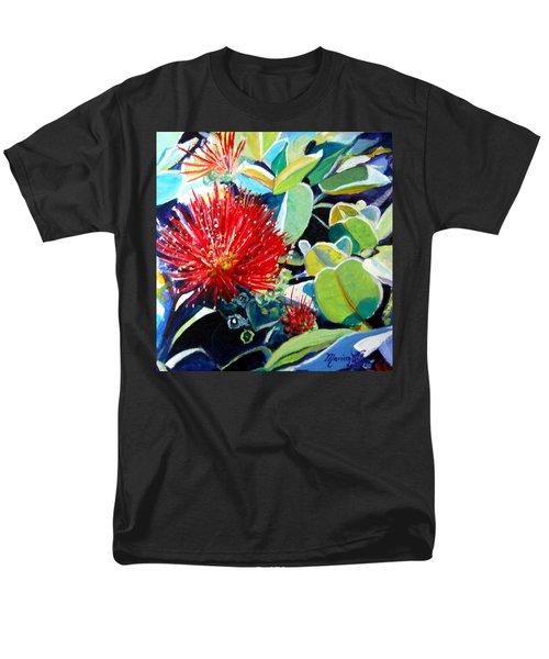 Red Ohia Lehua Flower Men's T-Shirt  (Regular Fit)