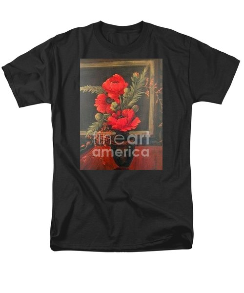 Red Poppies Men's T-Shirt  (Regular Fit) by Glory Wood