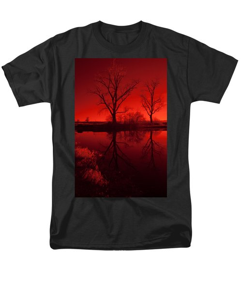 Red Reflections Men's T-Shirt  (Regular Fit) by Miguel Winterpacht