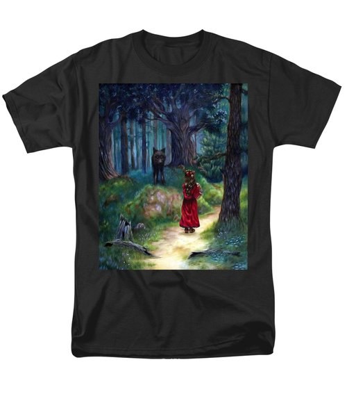 Red Riding Hood Men's T-Shirt  (Regular Fit) by Heather Calderon