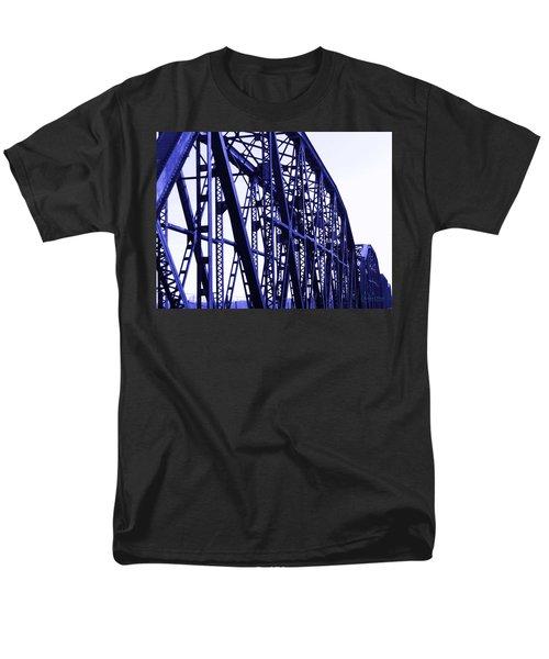 Men's T-Shirt  (Regular Fit) featuring the photograph Red River Train Bridge #5 by Robert ONeil