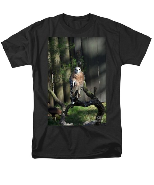 Red Shouldered-hawk Men's T-Shirt  (Regular Fit) by Robert Meanor