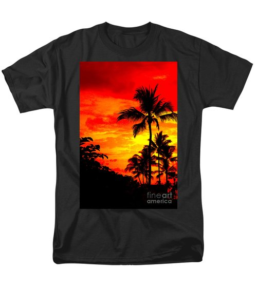 Men's T-Shirt  (Regular Fit) featuring the photograph Red Sky At Night by David Lawson