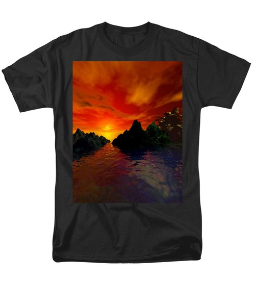 Men's T-Shirt  (Regular Fit) featuring the digital art Red Sky by Kim Prowse