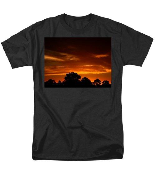 Red Sunset Men's T-Shirt  (Regular Fit) by Mark Blauhoefer