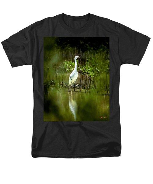 Men's T-Shirt  (Regular Fit) featuring the photograph Reddish Egret 9c by Gerry Gantt