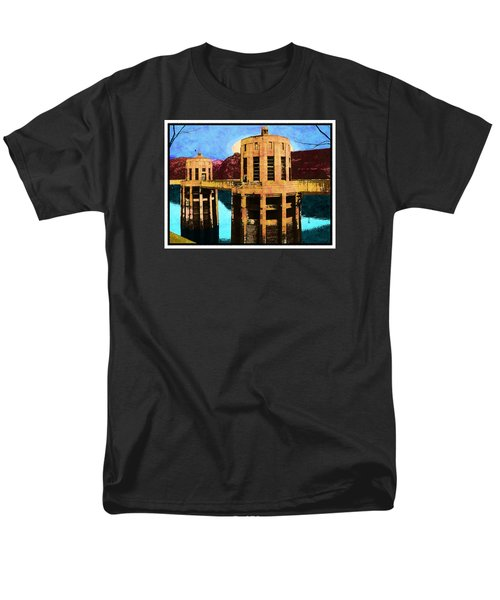Men's T-Shirt  (Regular Fit) featuring the photograph Reflections At Hoover Dam by Glenn McCarthy Art and Photography