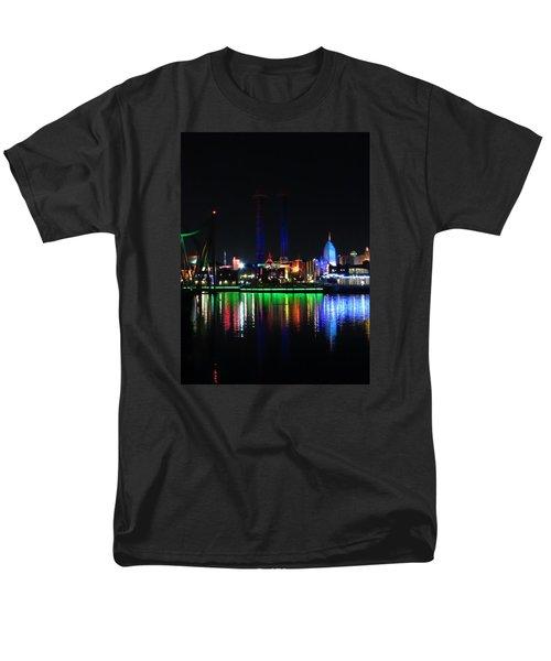 Reflections At Night Men's T-Shirt  (Regular Fit) by Kathy Long