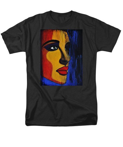 Men's T-Shirt  (Regular Fit) featuring the painting Reign Over Me 2 by Michael Cross