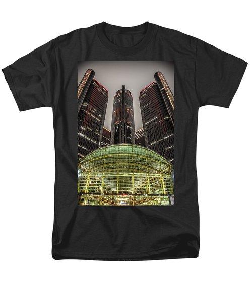 Renaissance Center Detroit Michigan Men's T-Shirt  (Regular Fit) by Nicholas  Grunas